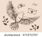 dove with olive brunches.... | Shutterstock .eps vector #471972707