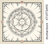 alchemy magic circle. mystic... | Shutterstock .eps vector #471973493