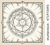 alchemy magic circle. mystic... | Shutterstock .eps vector #471973493