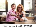 man and woman making selfies | Shutterstock . vector #471976747
