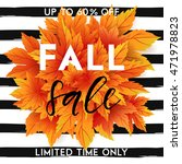 autumn sale flyer template with ... | Shutterstock .eps vector #471978823