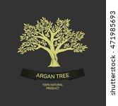 hand drawn graphic argan tree....   Shutterstock .eps vector #471985693
