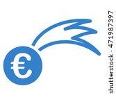 euro falling meteor icon. glyph ...   Shutterstock . vector #471987397