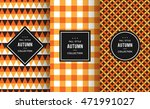 autumn seamless patterns.... | Shutterstock .eps vector #471991027