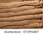 Background Of Burlap Bags...