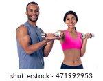 beautiful afro american sports...   Shutterstock . vector #471992953