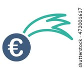 euro falling meteor icon. glyph ...   Shutterstock . vector #472001617