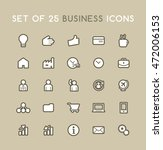 set of solid business icons.... | Shutterstock .eps vector #472006153