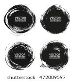 vector beautiful round handmade ... | Shutterstock .eps vector #472009597