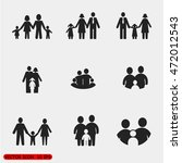 family icon in trendy flat style | Shutterstock .eps vector #472012543