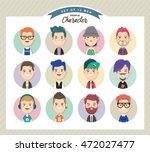 set of men avatars   Shutterstock .eps vector #472027477