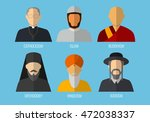 world religions monk people... | Shutterstock .eps vector #472038337