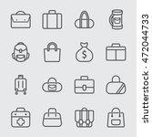 bag line icon | Shutterstock .eps vector #472044733