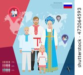 russian family in national... | Shutterstock .eps vector #472064593