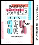 fashion sale with discount ... | Shutterstock .eps vector #472064617