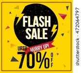 flash sale with upto 70  off ... | Shutterstock .eps vector #472064797