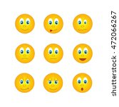 several round yellow emoticons... | Shutterstock . vector #472066267