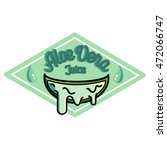 color vintage aloe vera emblem... | Shutterstock .eps vector #472066747