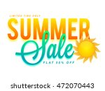 summer sale and discounts  flat ... | Shutterstock .eps vector #472070443