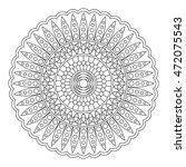 floral mandala  vector... | Shutterstock .eps vector #472075543