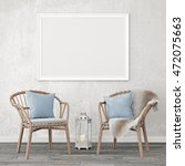 neutral interior mockup with... | Shutterstock . vector #472075663