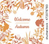 flat design style welcome... | Shutterstock .eps vector #472078783