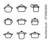 saucepan vector icons. simple...