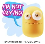 3d rendering sad character... | Shutterstock . vector #472101943