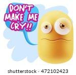 3d rendering sad character... | Shutterstock . vector #472102423