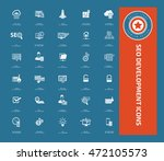 seo development icon set vector | Shutterstock .eps vector #472105573