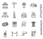 museum icons set in outline... | Shutterstock .eps vector #472107547