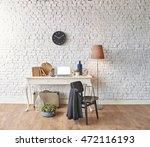 brick wall horizontal banner... | Shutterstock . vector #472116193