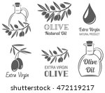 vector set of olive oil  labels | Shutterstock .eps vector #472119217