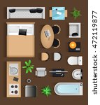 set top view for interior icon... | Shutterstock .eps vector #472119877