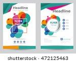 corporate brochure flyer design ... | Shutterstock .eps vector #472125463