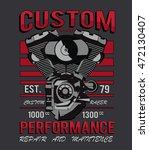 motorcycle t shirt graphic | Shutterstock .eps vector #472130407