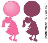silhouette of little girl... | Shutterstock .eps vector #472131457