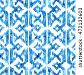 seamless blue hand drawn... | Shutterstock . vector #472132603