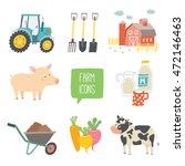 farm icon set. vector...   Shutterstock .eps vector #472146463
