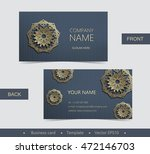 layout business card with... | Shutterstock .eps vector #472146703