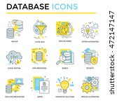 database icon  thin line  flat... | Shutterstock .eps vector #472147147