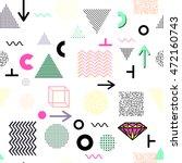 trendy geometric elements... | Shutterstock .eps vector #472160743