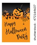 halloween party design template ... | Shutterstock .eps vector #472164637