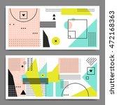 two modern horizontal templates ... | Shutterstock .eps vector #472168363