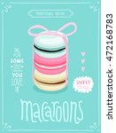 macaroons poster   template for ... | Shutterstock .eps vector #472168783