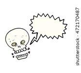 freehand drawn speech bubble... | Shutterstock . vector #472170487