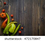 healthy organic vegetables on a ... | Shutterstock . vector #472170847