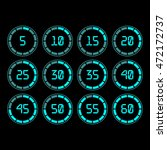 digital countdown timer with... | Shutterstock .eps vector #472172737