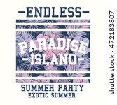 summer style tee print design... | Shutterstock .eps vector #472183807