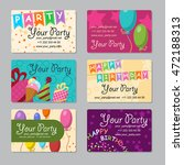 set of business card your party ... | Shutterstock .eps vector #472188313